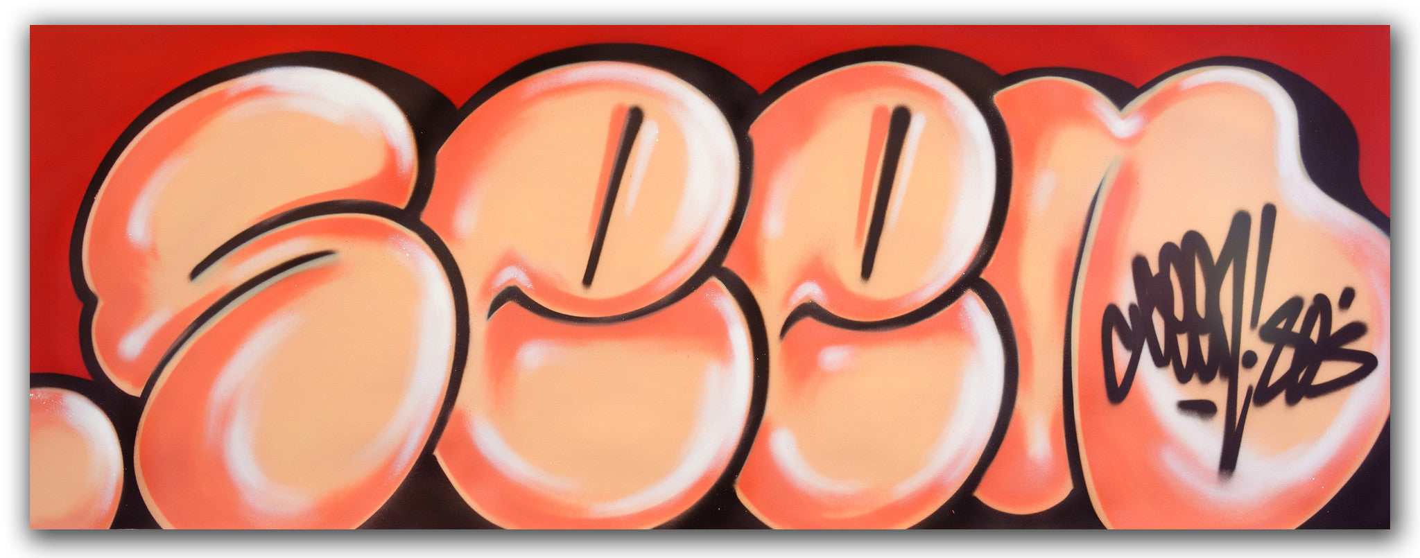 "GRAFFITI ARTIST SEEN -  ""Classic Bubble 6""  Aerosol on Canvas"