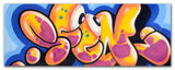 "GRAFFITI ARTIST SEEN -  "" Bubble ""  Aerosol on Canvas"