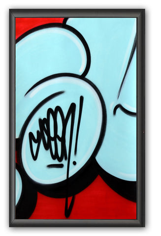 "GRAFFITI ARTIST SEEN -  ""Bubble #5""  Painting on paper"