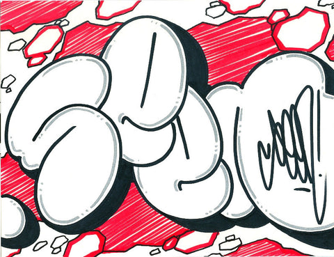 GRAFFITI ARTIST SEEN - Bubble 6- Drawing