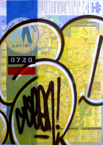 "GRAFFITI ARTIST SEEN -  ""Yellow Bubble"" NYC Map"