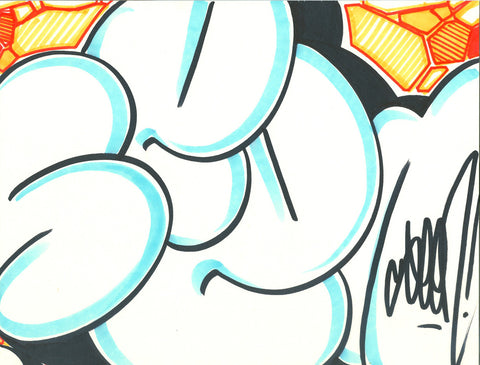 GRAFFITI ARTIST SEEN - Bubble Blue- Drawing