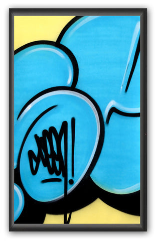 "GRAFFITI ARTIST SEEN -  ""Bubble #17""  Painting on paper"