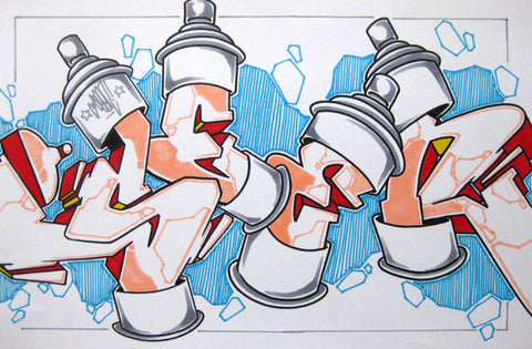 GRAFFITI ARTIST SEEN - Can 2- Drawing 11x17