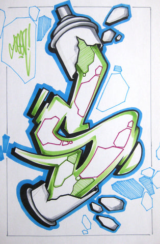 GRAFFITI ARTIST SEEN - Can #22- Drawing 11x17