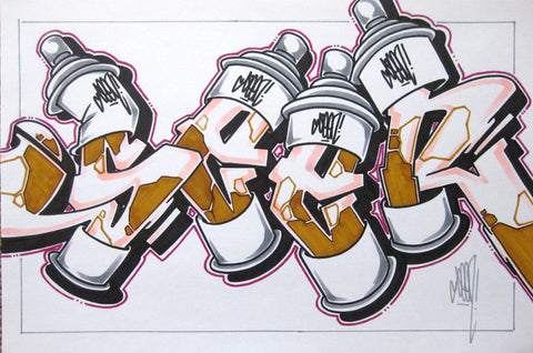 GRAFFITI ARTIST SEEN - Can #23- Drawing 11x17