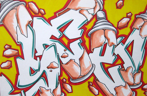 GRAFFITI ARTIST SEEN - Can #8- Drawing 11x17