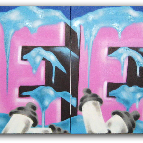 GRAFFITI ARTIST SEEN -  Frosted - Quadtych Painting