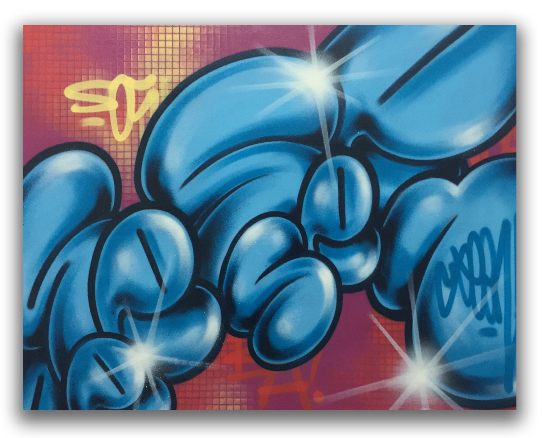 "GRAFFITI ARTIST SEEN  -  ""Floating Bubbles"" -   Aerosol on  Canvas"