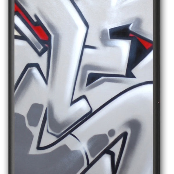 "GRAFFITI ARTIST SEEN -  ""Subway S #18""  Painting on paper"