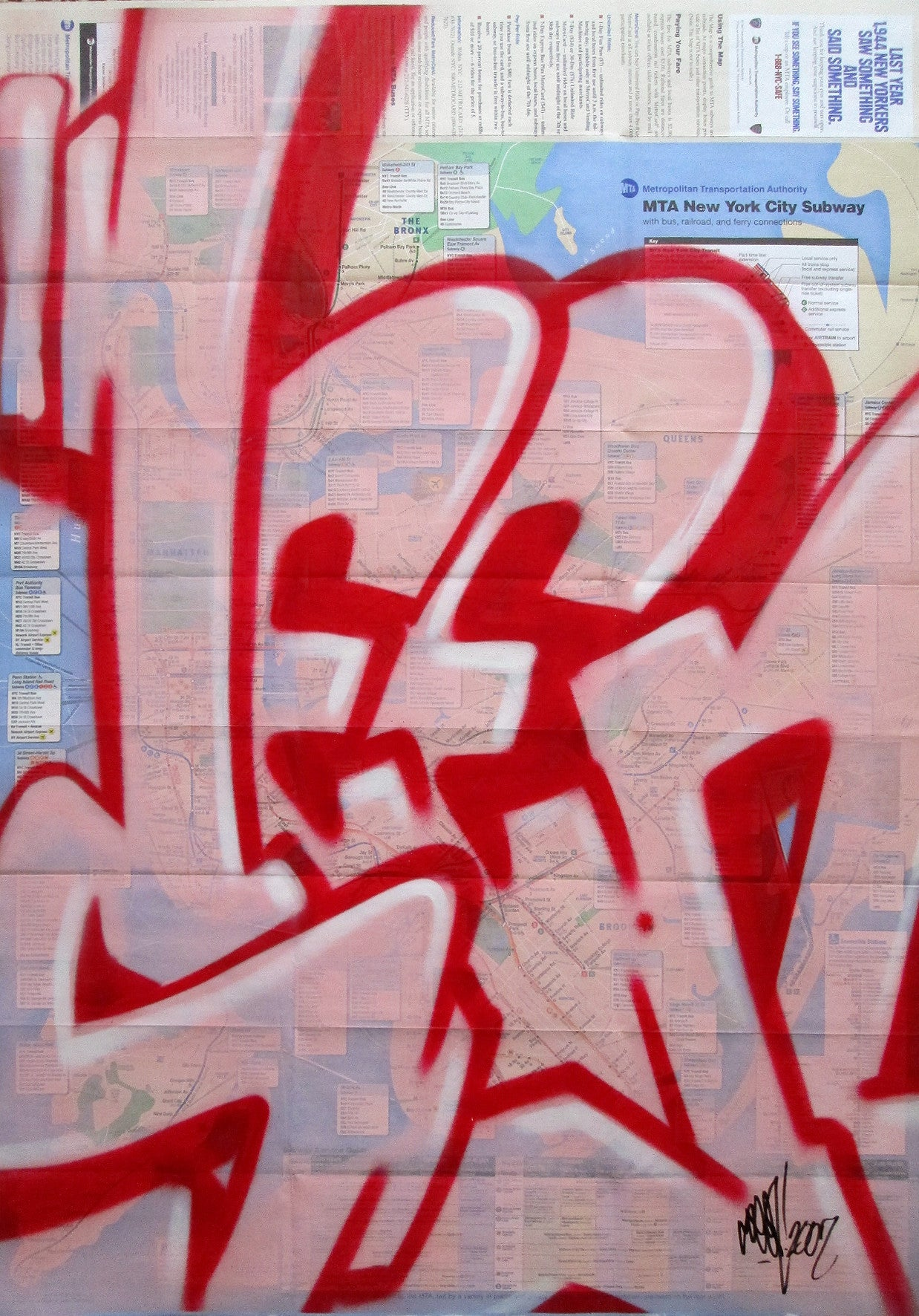 "GRAFFITI ARTIST SEEN -  ""Full SEEN  "" NYC Map"