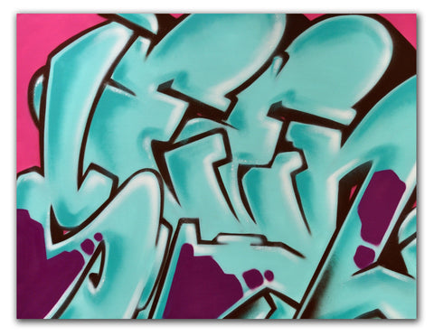 "GRAFFITI ARTIST SEEN -  ""SEEN""  Painting on Canvas"