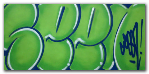 "GRAFFITI ARTIST SEEN - ""Classic Bubble 4""  Painting"