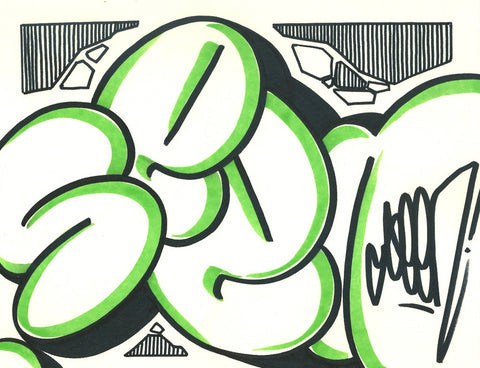 GRAFFITI ARTIST SEEN - Bubble 9- Drawing