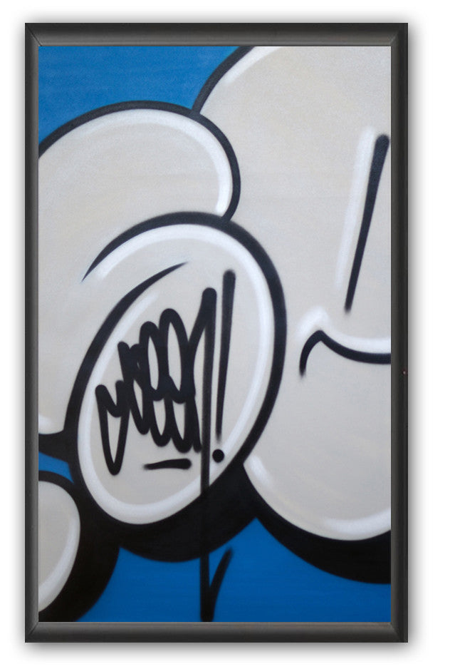 "GRAFFITI ARTIST SEEN -  ""Bubble #14""  Painting on paper"