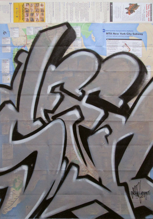 "GRAFFITI ARTIST SEEN -  ""FULL SEEN"" NYC Map"