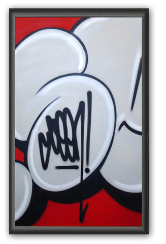 "GRAFFITI ARTIST SEEN -  ""Bubble #8""  Painting on paper"