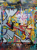 "GRAFFITI ARTIST SEEN  -  ""Hong Kong Phooey""  Aerosol on  Canvas"