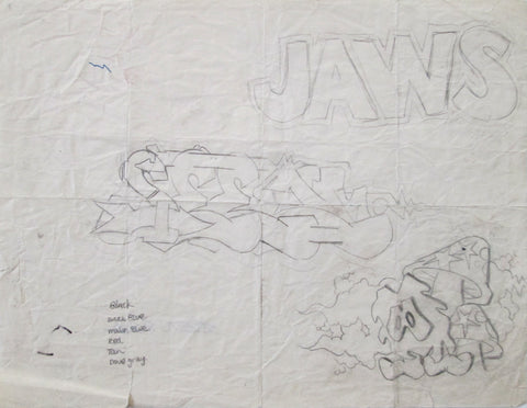 GRAFFITI ARTIST SEEN - SEEN Outline (JAWS) - 1982
