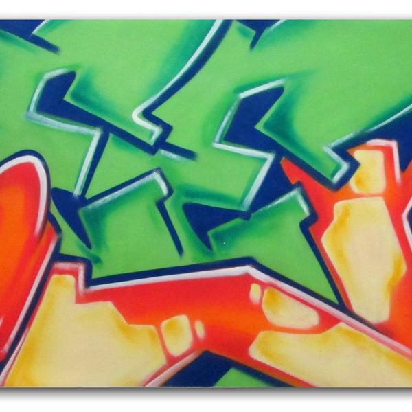 "GRAFFITI ARTIST SEEN -  ""SEEN 10""  Painting on Canvas"