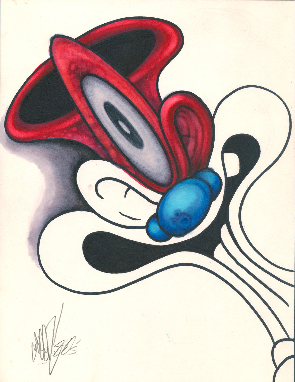 "GRAFFITI ARTIST SEEN - ""Looney Lenny"" - Drawing"