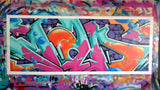 "GRAFFITI ARTIST SEEN -  ""MAD Wildstyle""  Aerosol  on  Canvas"