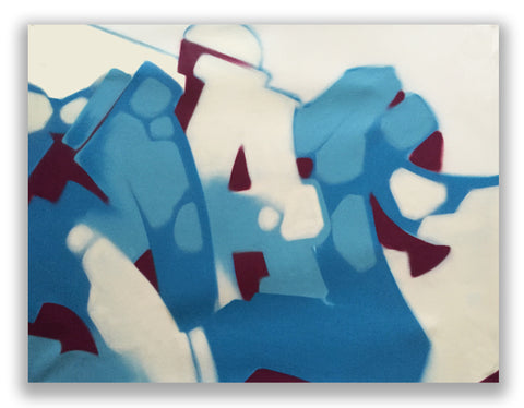 "GRAFFITI ARTIST SEEN  -  ""MAD""  Aerosol on  Linen  (FREE SHIPPING)"