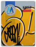 "GRAFFITI ARTIST SEEN  -  ""MTA - Stretched"" 24x32""  Aerosol on  Linen"