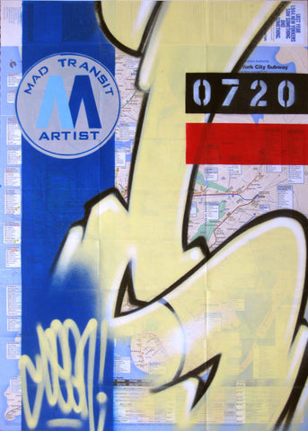 "GRAFFITI ARTIST SEEN -  ""Subway S #1"" NYC Map"