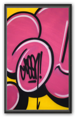 "GRAFFITI ARTIST SEEN -  ""Bubble #9""  Painting on paper"