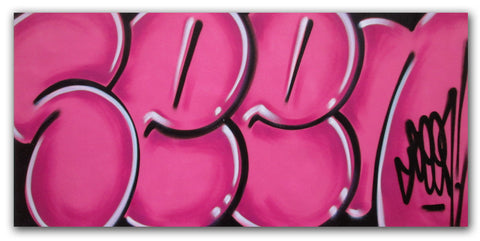 "GRAFFITI ARTIST SEEN - ""Classic Bubble 3""  Painting"