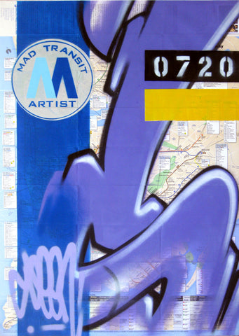 "GRAFFITI ARTIST SEEN -  ""Subway S #3"" NYC Map"