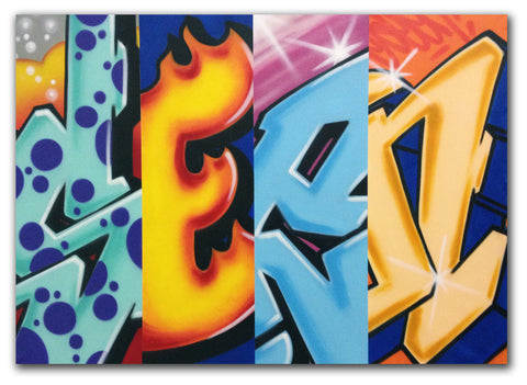 GRAFFITI ARTIST SEEN -  Mix & Match- Painting
