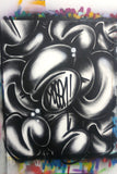 "GRAFFITI ARTIST SEEN  -  ""Multi Bubbles Black"" -   Aerosol on  Canvas"