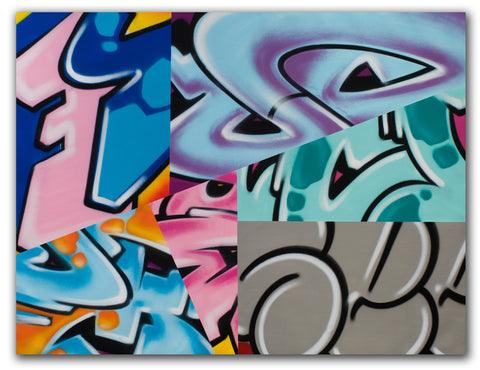 "GRAFFITI ARTIST SEEN -  ""Mix N Match""  Painting on Canvas"