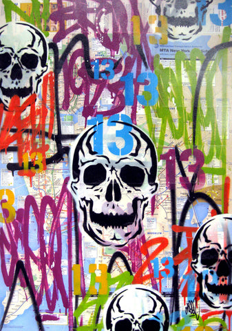 "GRAFFITI ARTIST SEEN -  ""Skull"" NYC Map"