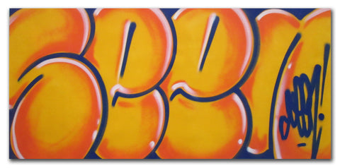"GRAFFITI ARTIST SEEN - ""Classic Bubble 5""  Painting"