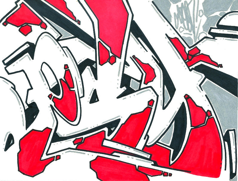 GRAFFITI ARTIST SEEN - Psycho 8- Drawing
