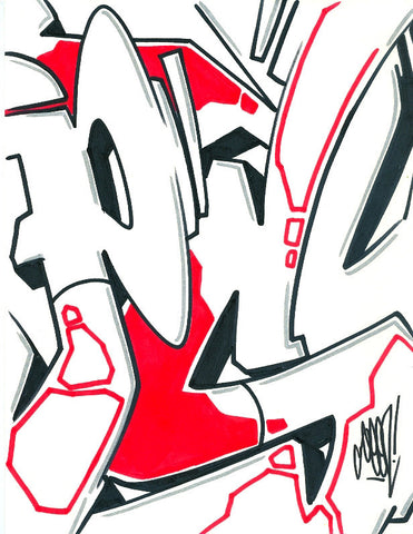 GRAFFITI ARTIST SEEN - Psycho 10- Drawing