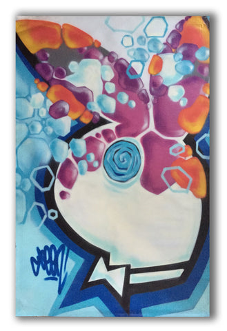 "GRAFFITI ARTIST SEEN  -  ""Playboy""  Aerosol on  Canvas"