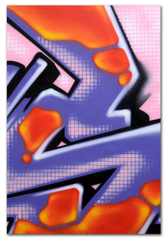 "GRAFFITI ARTIST SEEN -  ""Honey Combed S""  Painting on Canvas"