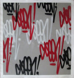 "GRAFFITI ARTIST SEEN  -  ""Multi  Tags""  Aerosol on  Canvas 46""x42"""