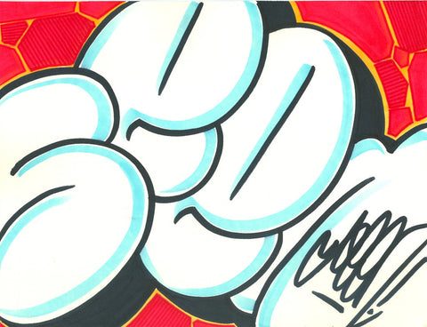 GRAFFITI ARTIST SEEN - Bubble SEEN 7- Drawing