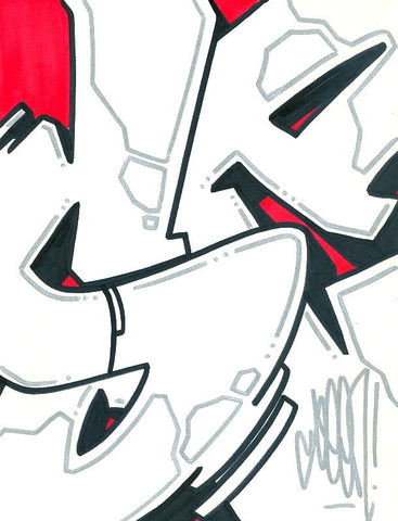 "GRAFFITI ARTIST SEEN - ""S"" #11- Drawing"