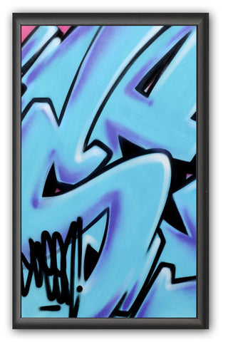 "GRAFFITI ARTIST SEEN -  ""Subway S #9""  Painting on paper"