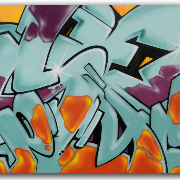 "GRAFFITI ARTIST SEEN -  ""SEEN_PSYCHO""  Painting on Canvas"