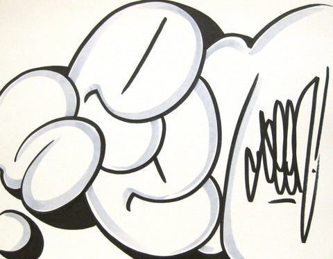 GRAFFITI ARTIST SEEN - Bubble 7- Drawing