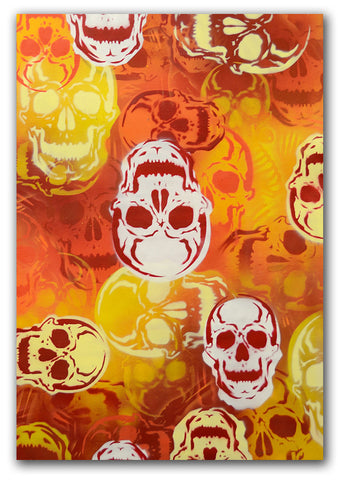 "SEEN - ""SKULLS (orange)"" Painting"