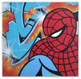 "SEEN   ""Spiderman""  Aerosol on  Canvas"