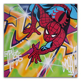 "GRAFFITI ARTIST SEEN  -  ""Spiderman""  Aerosol on  Canvas"
